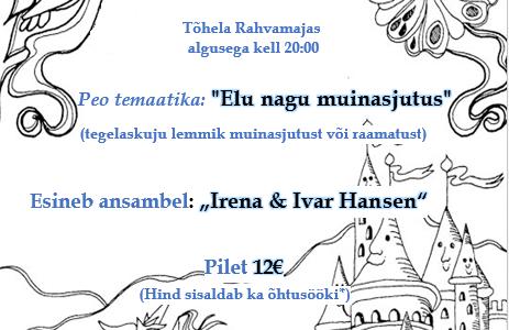 """LÕIKUSPIDU"" 24.okt 2015, kell 20:00 Tõhela Rahvamajas"